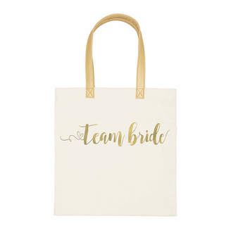 Cathy's Concepts Cathy Concepts Gold Foil Team Bride Canvas Tote