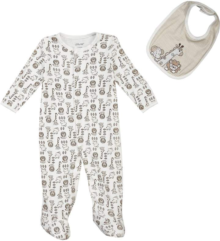 Newborn-9 Months Safari Footie Set