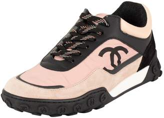Chanel Pink Leather Trainers