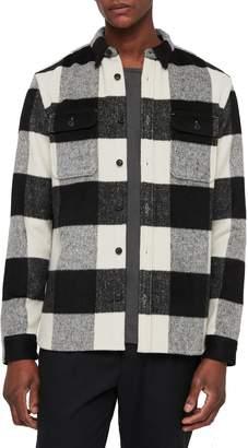 AllSaints Laona Regular Fit Check Flannel Sport Shirt