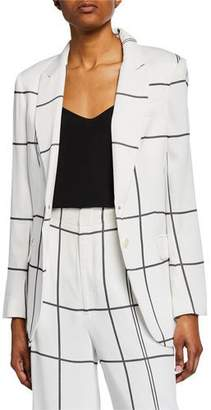 Equipment James Multi-Stripe Button-Front Blazer