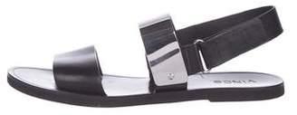 Vince Leather Slingback Sandals