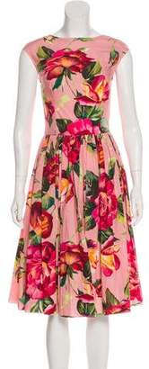 Dolce & Gabbana Sleeveless Rose Dress