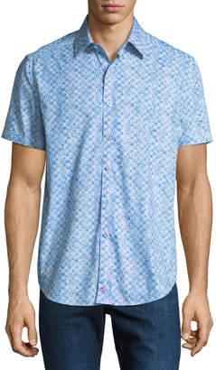 Robert Graham Men's Classic Fit Erby Short-Sleeve Sport Shirt