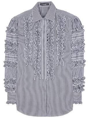 Dolce & Gabbana Ruffled cotton-blend shirt