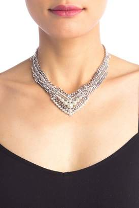 Givenchy Layered Row Stone & Pearl Collar