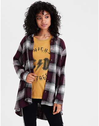 American Eagle AE Ahh-mazingly Soft Oversized Plaid Shirt