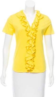 Ralph Lauren Ruffle-Accented Short Sleeve Top
