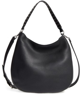Rebecca Minkoff Unlined Convertible Leather Hobo - Black $325 thestylecure.com