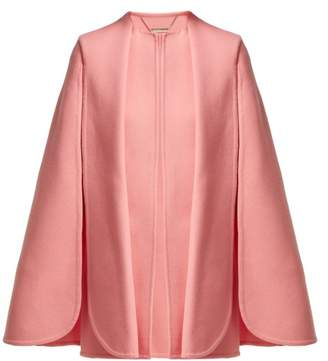 Alexander McQueen Draped Wool And Cashmere Blend Cape - Womens - Pink