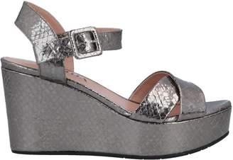 e229cca61f1a Silver Cork Heel Women s Sandals - ShopStyle