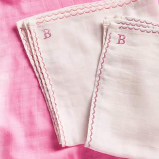 Marloe London Personalised Pink Mini Muslin Comforters