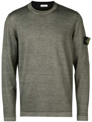 Stone Island Fast Dye + Air Brush knitted sweater