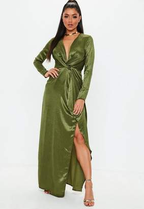 Missguided Wrap Front Maxi Dress