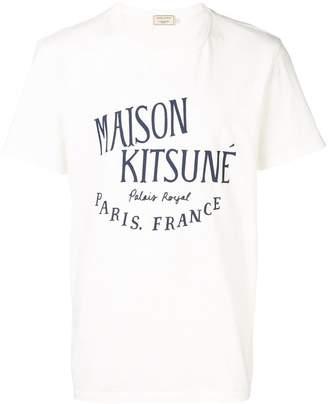 MAISON KITSUNÉ white logo t-shirt