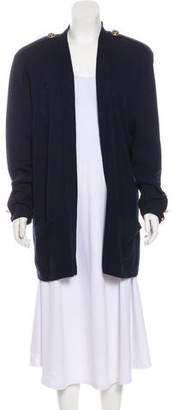 St. John Structured Open Front Cardigan