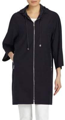 Lafayette 148 New York Niles Hooded Silk Jacket