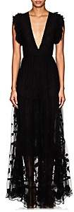 Ulla Johnson Women's Fifi Embroidered Tulle Maxi Dress - Black