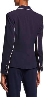 Rachel Roy Halo Piped Button-Front Blazer
