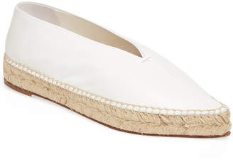Celine V Neck Leather Espadrille