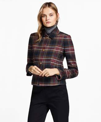 Brooks Brothers Petite Plaid Double-Face Wool-Blend Jacket