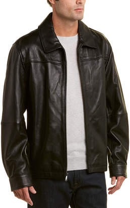 Brooks Brothers Leather Bomber Jacket