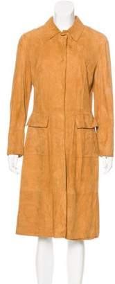 Dolce & Gabbana Suede Long Coat
