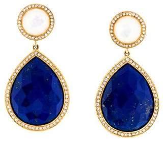 Ippolita 18K Lapis, Mother of Pearl & Diamond Teardrop Earrings
