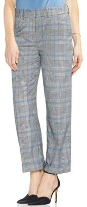 Vince Camuto Blue Accent Plaid Cuffed Crop Pants