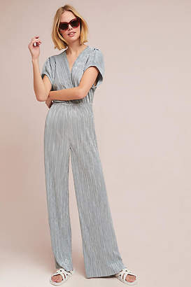 Porridge Pleated Metallic Jumpsuit