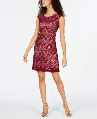 Connected Petite Lace A-Line Dress