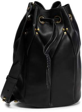 Jerome Dreyfuss Popeye Stud-Embellished Suede Bucket Bag