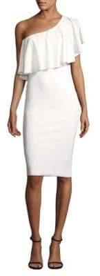 Chiara Boni One-Shoulder Ruffle Dress