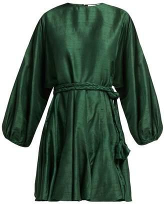 Rhode Resort - Ella Silk Dress - Womens - Green