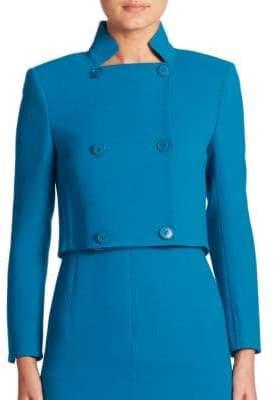 Akris Isabella Croped Wool Crepe Jacket