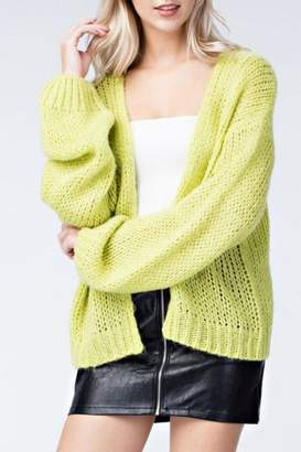 Honey Punch Neon Cardigan