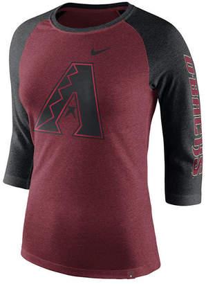 Nike Women's Arizona Diamondbacks Tri-Blend Raglan T-Shirt