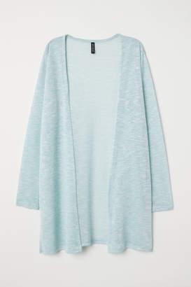 H&M Fine-knit Cardigan - Turquoise