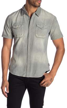 John Varvatos Short Sleeve Regular Fit Denim Shirt