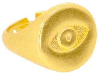 Ottoman Hands - Evil Eye Gold Signet Ring