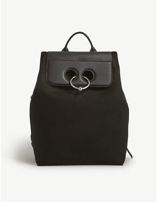 J.W.Anderson Pierce cotton-canvas and leather backpack