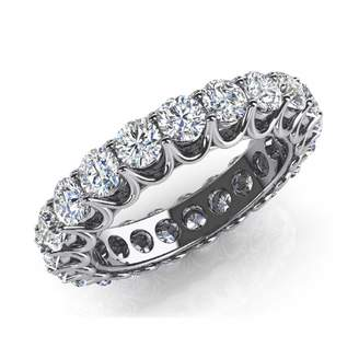 South Beach Diamonds 5.00 ct. Ladies Round Cut Diamond Wedding Band Ring in Platinum in Size 14