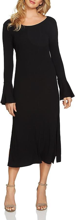 1.STATE Bell Sleeve Midi Dress