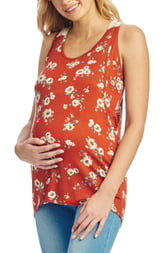 Everly Grey Lani Maternity/Nursing Tank