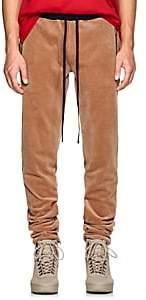 BEIGE FiveSeventyFive Men's Velour Track Pants - Beige, Tan