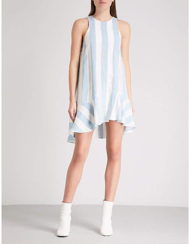 Treacle striped woven mini dress