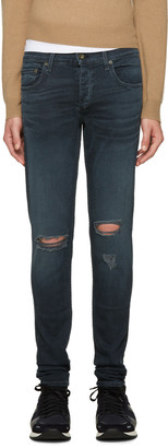 Rag & Bone Blue Standard Issue Fit 1 Jeans $215 thestylecure.com