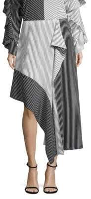 Robert Rodriguez Asymmetric Colorblock Skirt