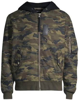 The Kooples Camo Bomber Jacket