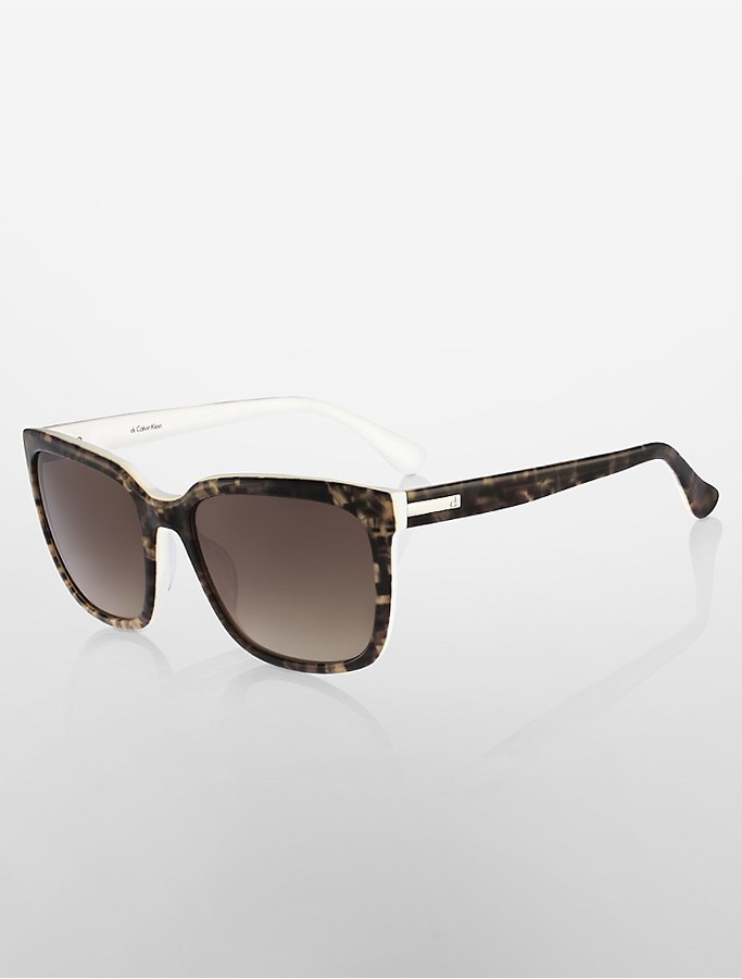 Calvin KleinSquare Oversized Sunglasses